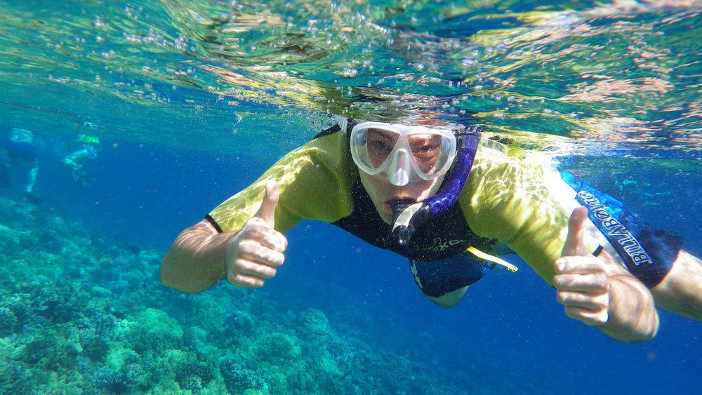 snorkeling at Molokini