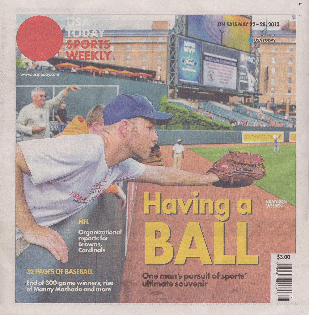 on the cover of USA Today Sports Weekly