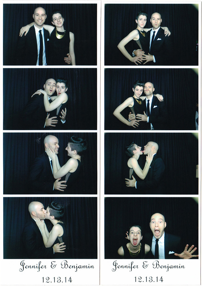 with Hayley in a photo booth