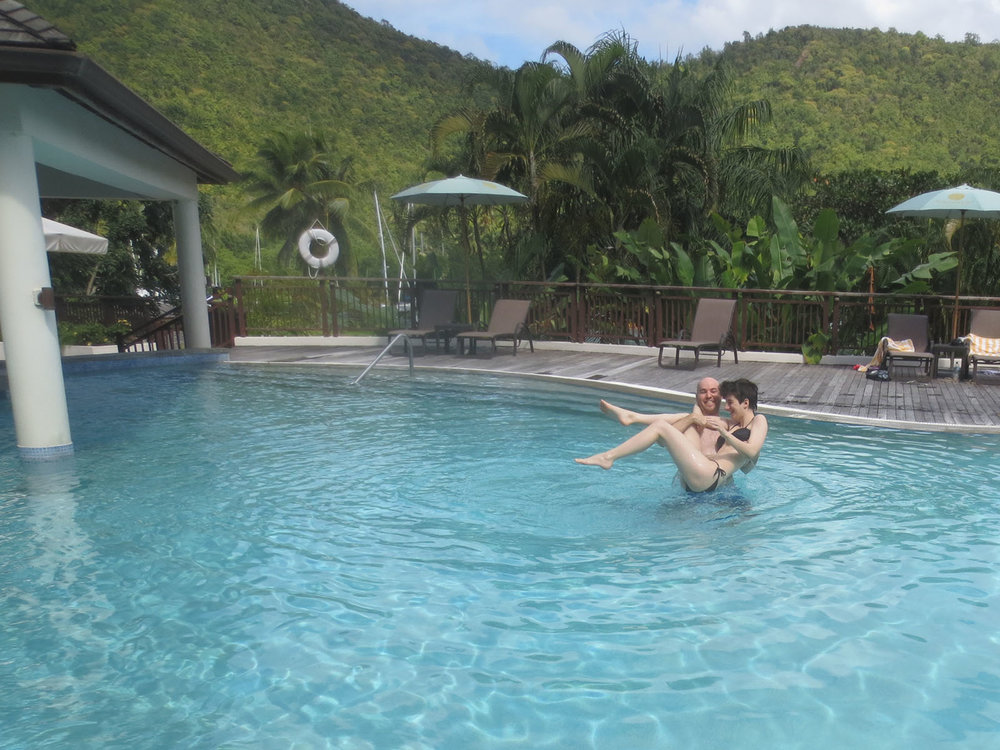 with Hayley in Saint Lucia