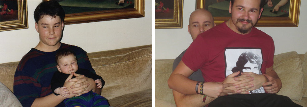 recreating the photo with Spencer from 1993