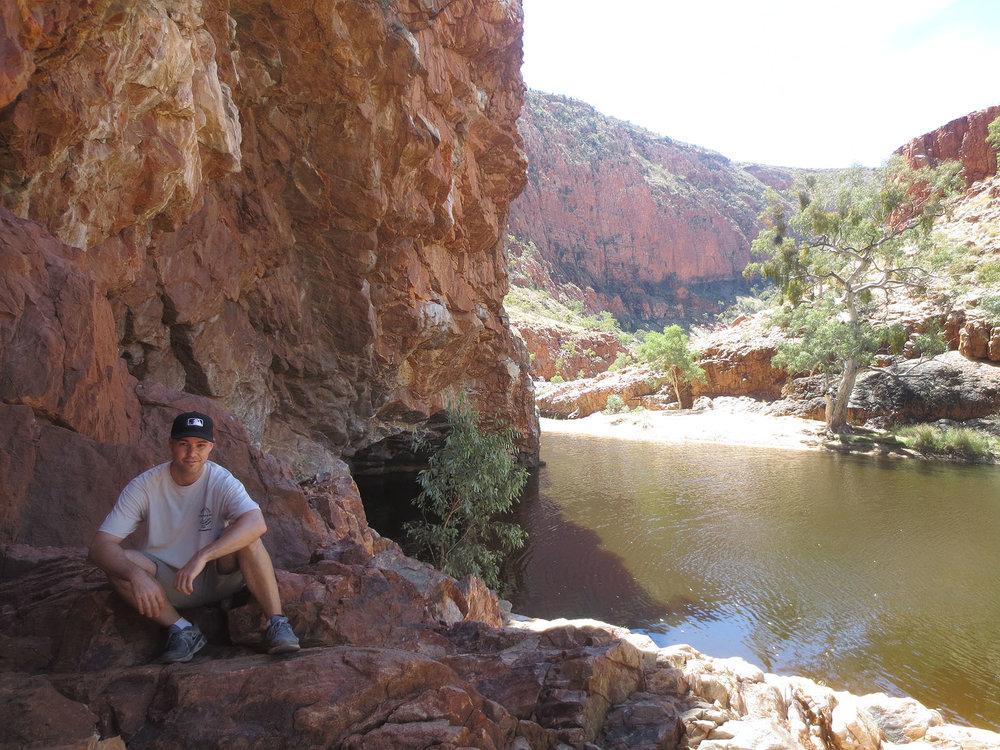 at Ormiston Gorge in Australia's Northern Territory
