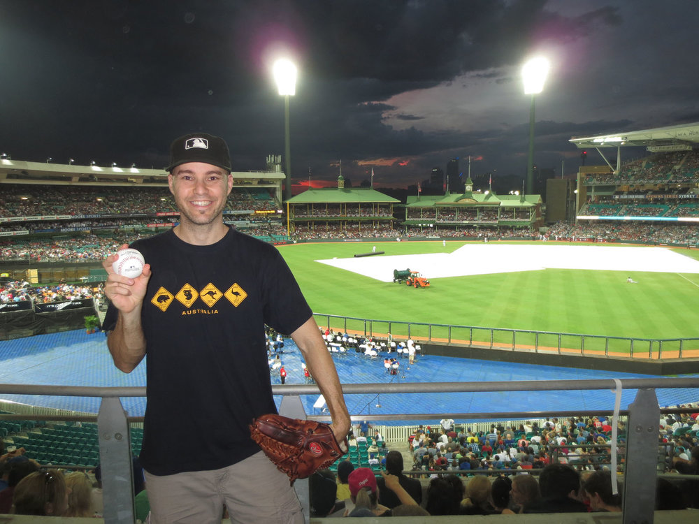 at the Sydney Cricket Ground for MLB's Opening Series between the Dodgers and Diamondbacks