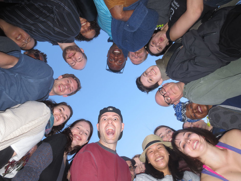 group photo from below