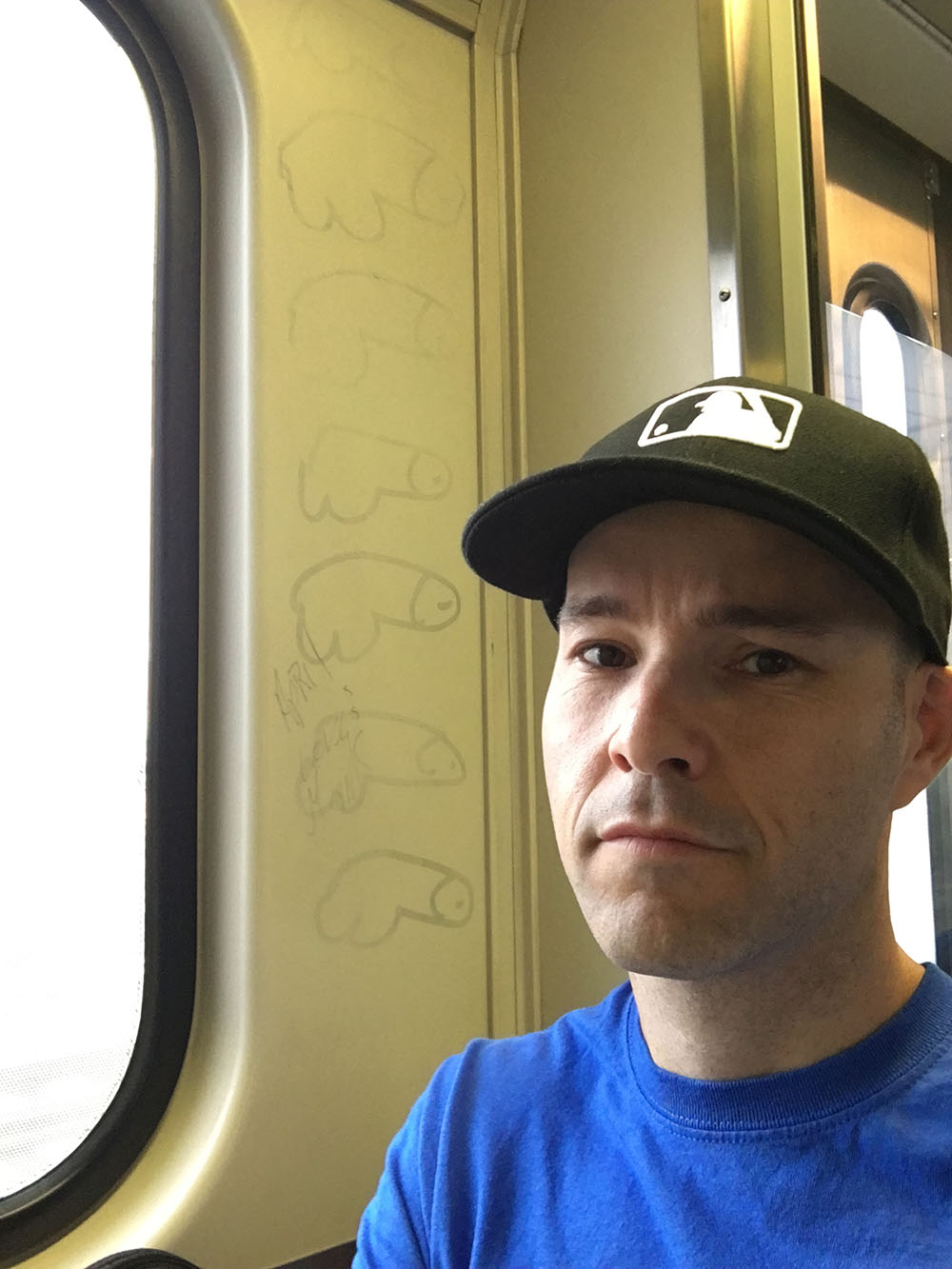 on a train in Maryland