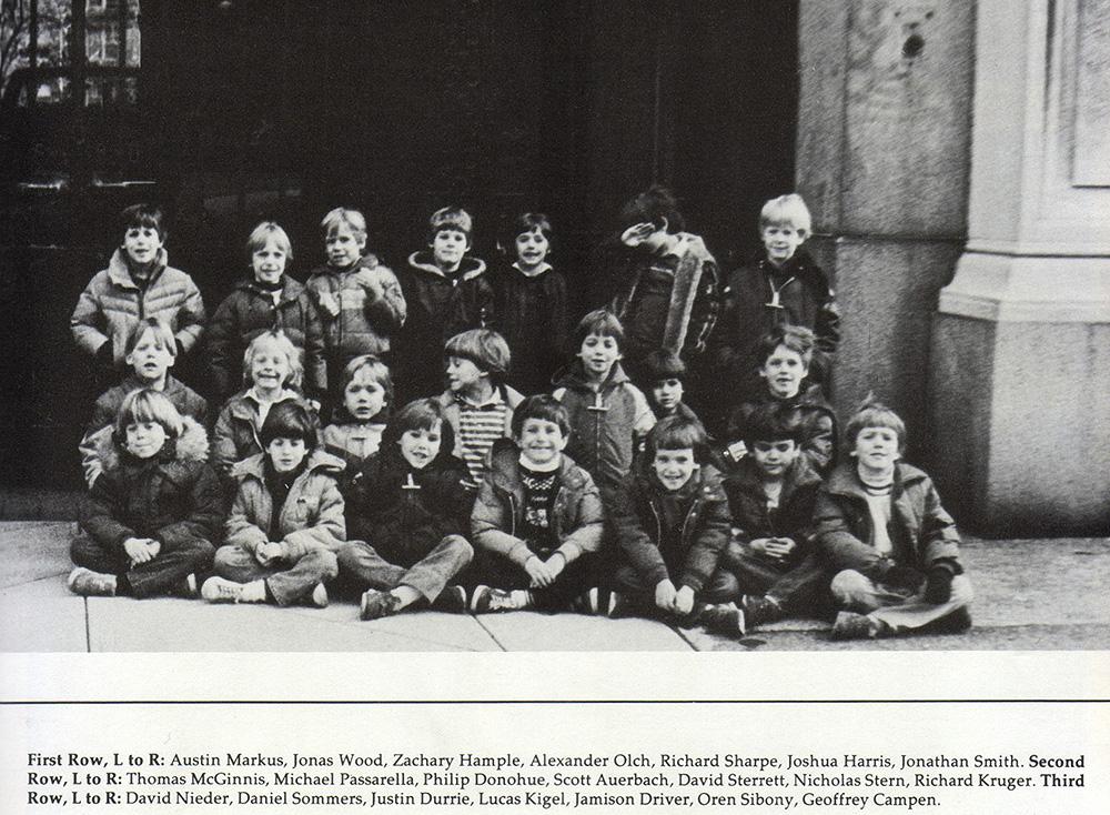 1st grade class photo