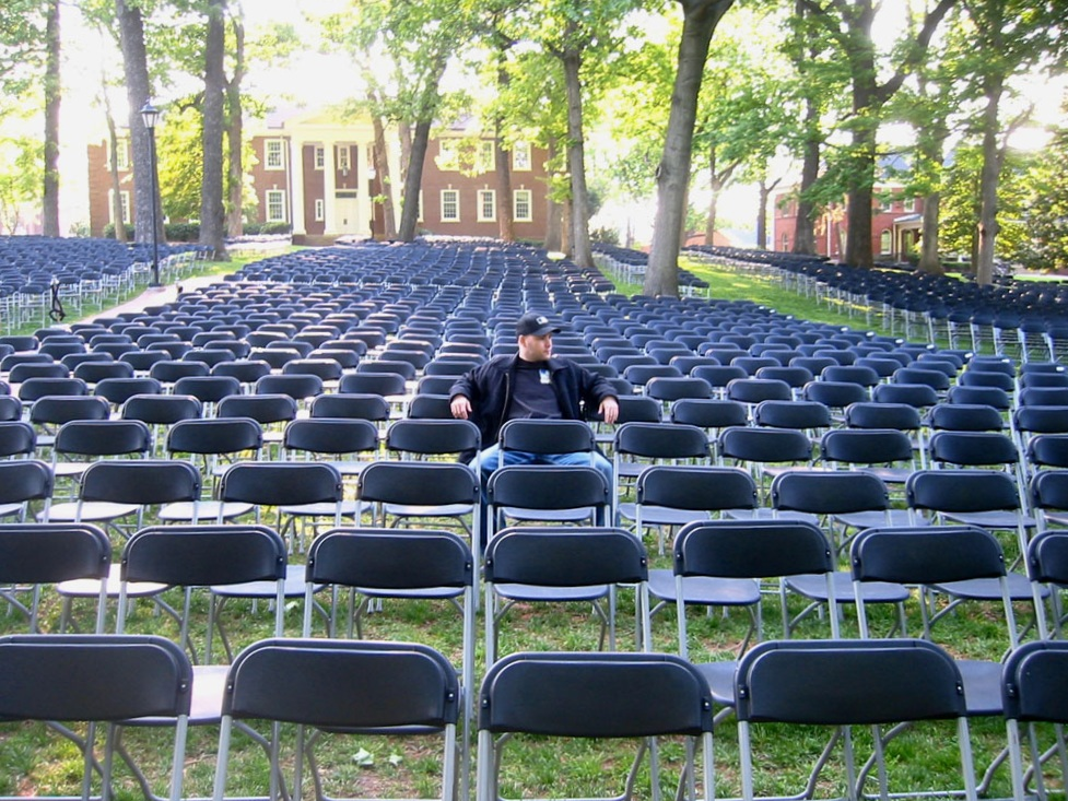 early for graduation at Guilford College