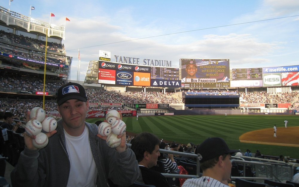 my first game at the new Yankee Stadium