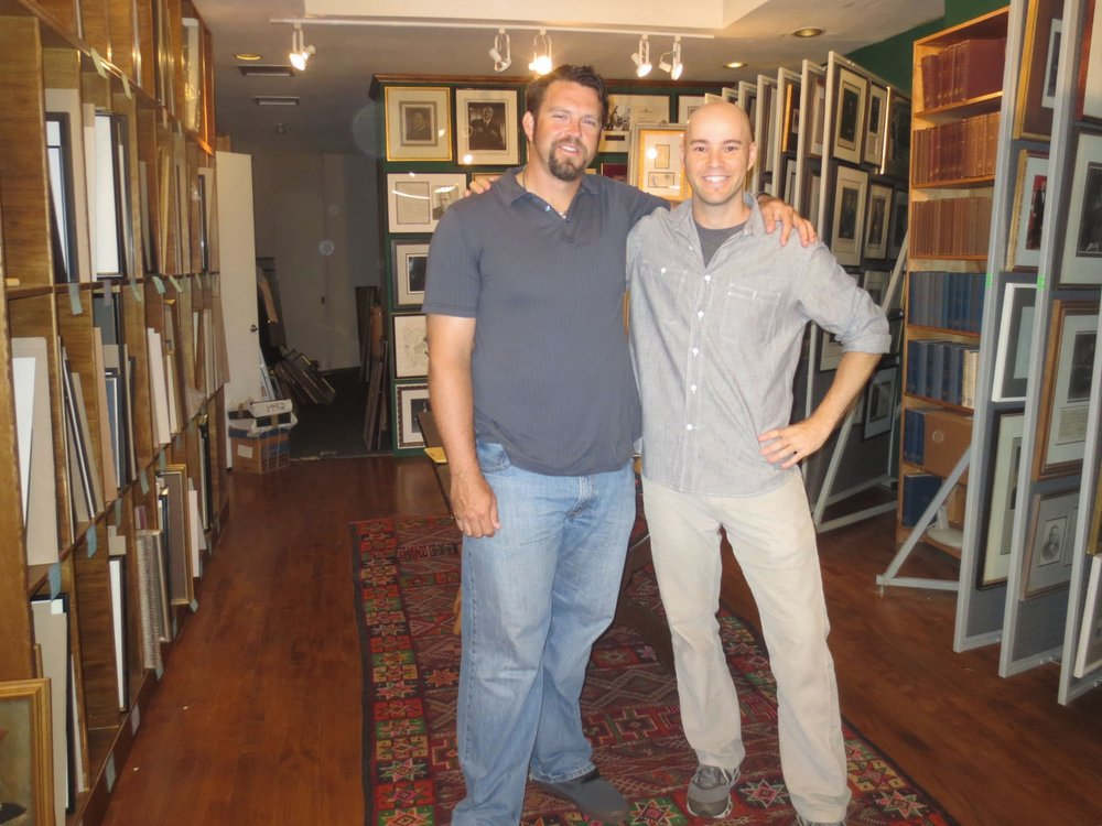 with Heath Bell at the Argosy Book Store