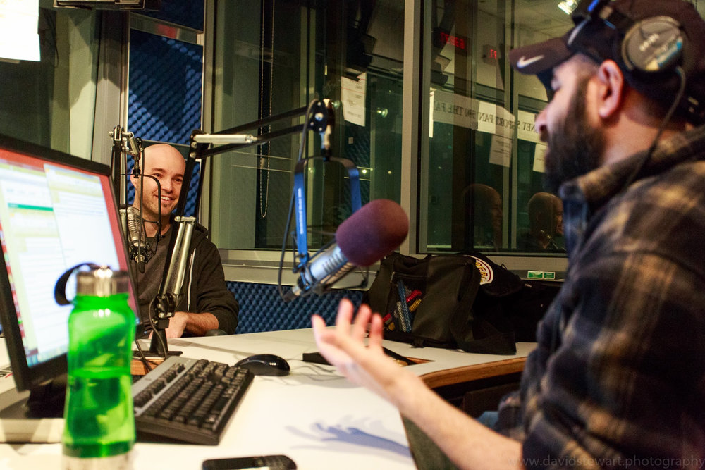 radio interview on a sports show in Toronto