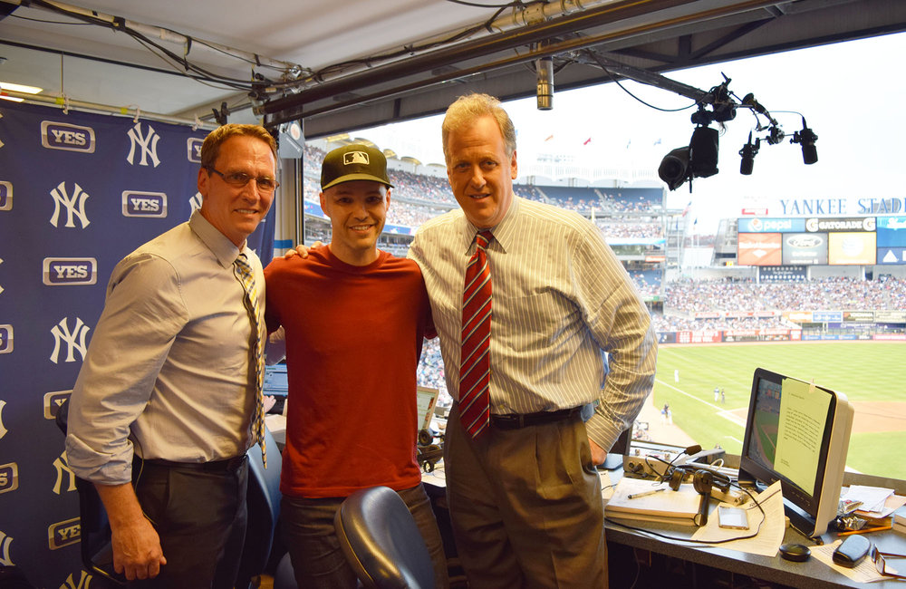 with David Cone and Michael Kay after they interviewed me on the YES Network