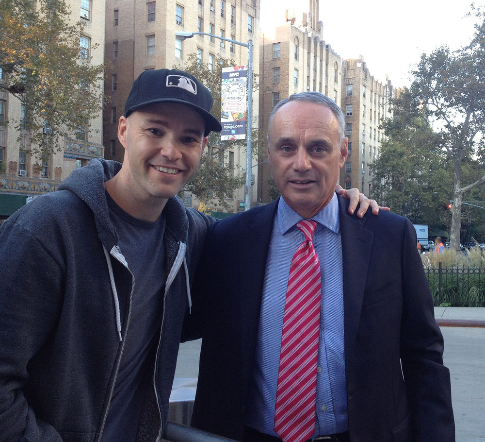 with new MLB commissioner Rob Manfred