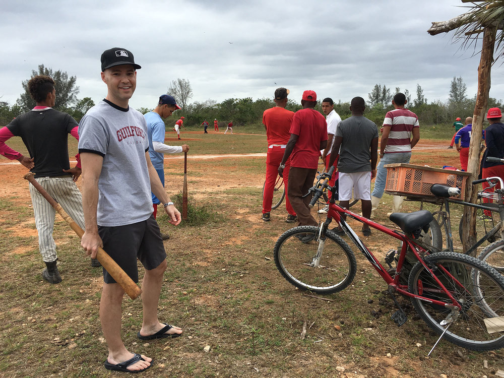 at a local baseball tournament in Playa Larga, Cuba