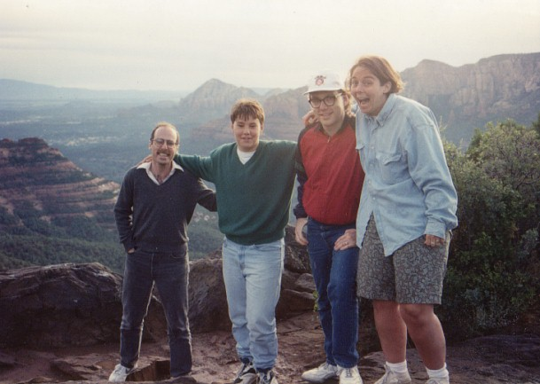 with my siblings in Sedona, Arizona