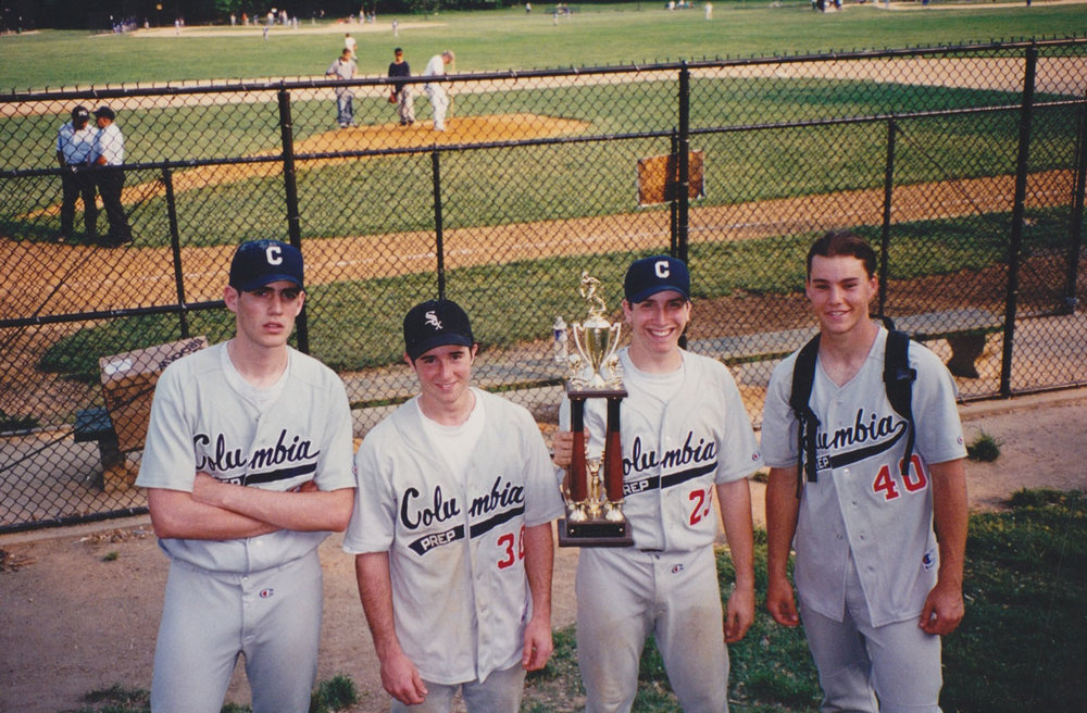 with some high school baseball teammates