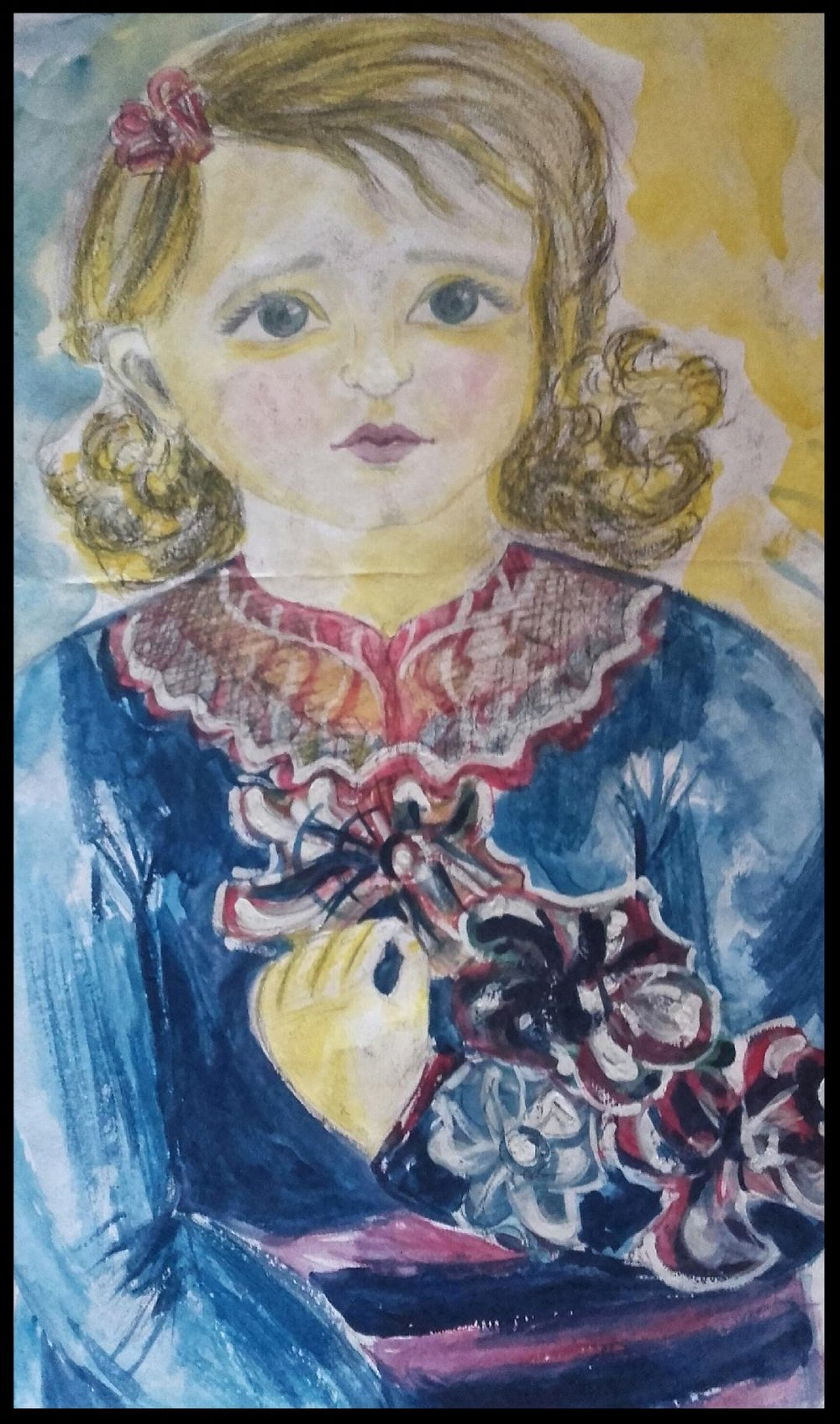 - LITTLE GIRLWATERCOLOR AND PENCIL35 CM X 20 CM
