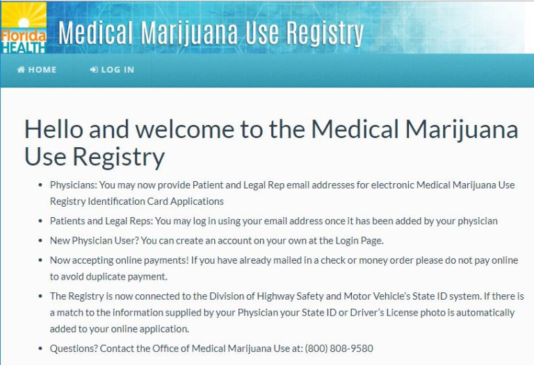 Florida-  Medical Marijuana USe Registry
