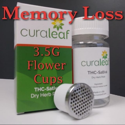 memory loss flower cups by  curaleaf