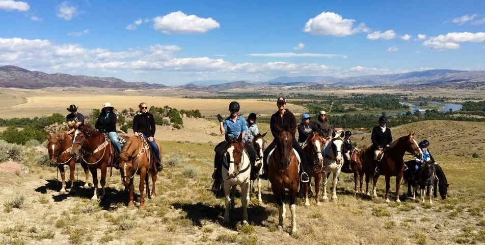 Ranch ride above the Missouri River at Headwaters Ranch.