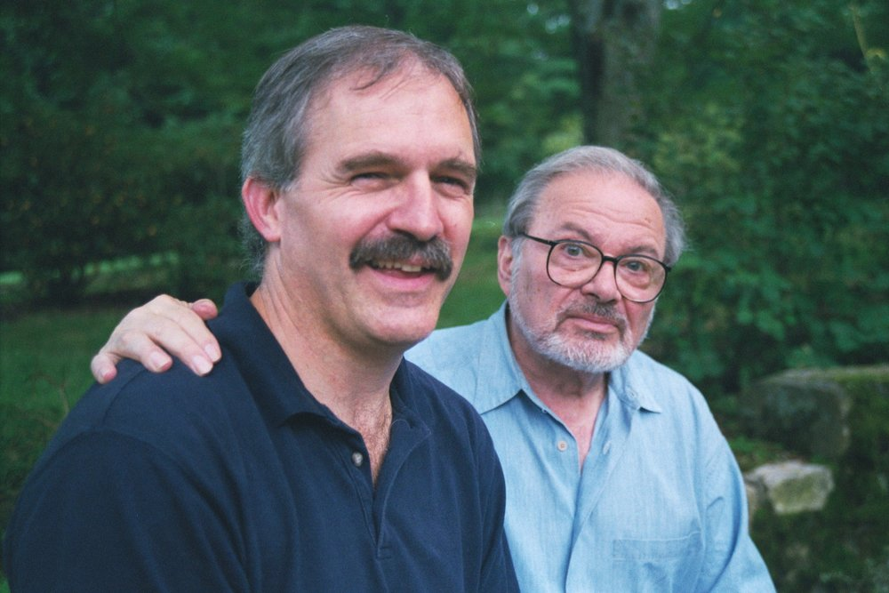 Tim with Maurice Sendak, 1999, having just signed an edition.
