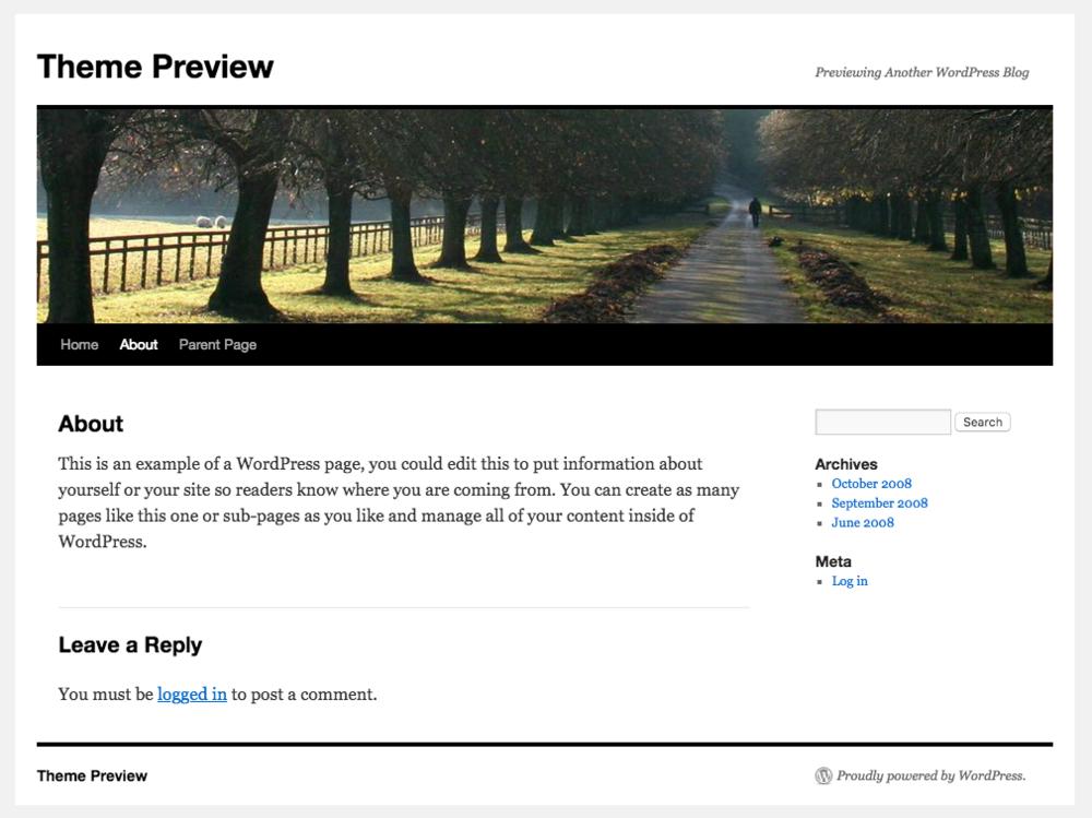 Wordpress Twenty Ten主题