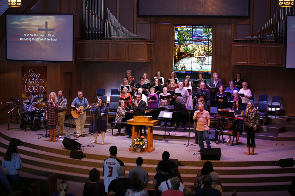 Music - The Music & Worship Ministry at Field Street strives to provide people opportunities for: leadership in the corporate worship of God, personal spiritual development, supportive relationships, music education, community outreach, mission trips and events, and entry-level involvement in the church. Above all, we want to minister to you and your family and we have a place for you to plug in no matter your age and interests. We are fortunate to have multiple sizes and types of musical ensembles and the goal of our staff is to be excellent in all things and to do all things for the glory of God. Visit our worship ministry website.