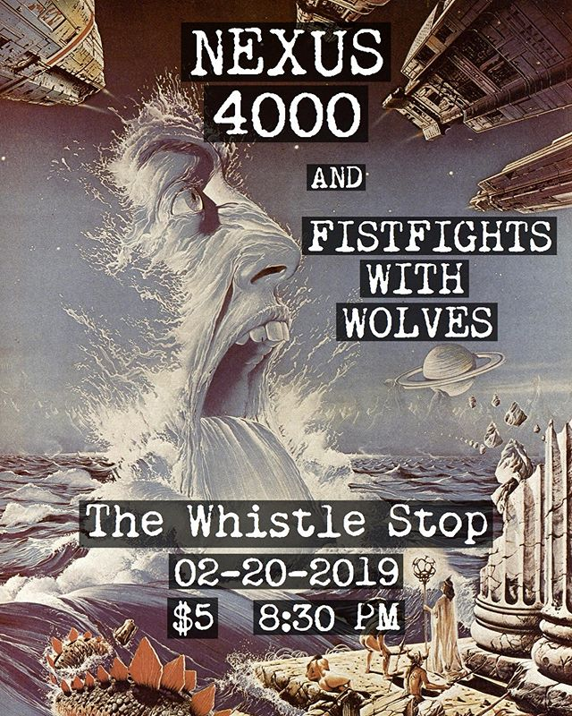 Next show, February 20th at @whistlestopbar with Nexus 4000. It's gonna be a whole night of Progressive rock and Jazz, let's get weird. : : : : #sdmusic #listensd #nexus4000 #shred #jazz #progrock #mathrock #jazzfusion #letsgetweird #scifi #fistfightswithwolves #ffww #liveshows #whistlestopbar #guitar #woodwinds #instrumentals #saxaphone #piano #composition #neoclassical