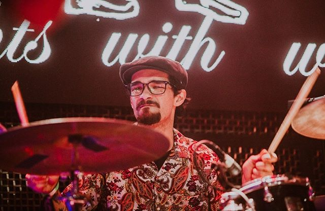 📸 of @dolla_billzz drum face by @kristywalkerphoto  Alum release  of Bone Script on April 5th at @themerrowsd with @rubythroatedmusic and @freshveggiesmicrobrass !! Come hangout. : : : : #sdmusic #listensd #liveshows #albumrelease #album #progrock #mathrock #jazz #drummer #drummersofinstagram #jazz #fistfightswithwolves #ffww #bonescript #sandiegomusic