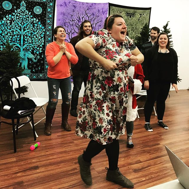 We've got a spring in our step, a song in our hearts and 16 days left until opening night for Naughty List: The Musical! 11/29 - 12/8. Buy your tickets now! Link in bio! . . #naughtylistthemusical #rehearsal #christmasiscoming  #musical