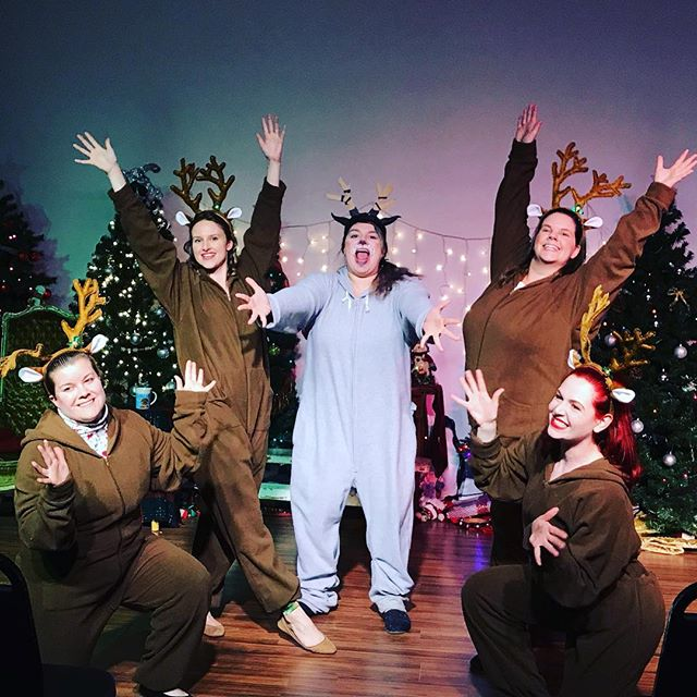 It's opening night!! Y'all ready for these reindeer games?! If you haven't bought your tickets yet, ask the cast about some very merry 50% discount codes you can use. Some shows are already sold out, so be nice to yourself and buy tickets today! . . #naughtylistmusical #theatre #musical #reindeergames #hashtagblessed #naughtyornice #choreography #thegoat