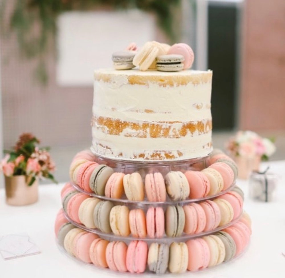 135 Macaron Tower - Cake 3 Little Robins Cakery