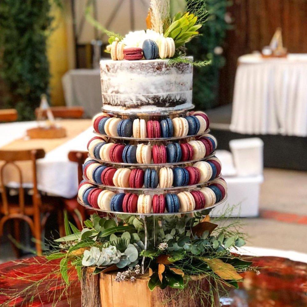 130 Macaron Wedding Tower
