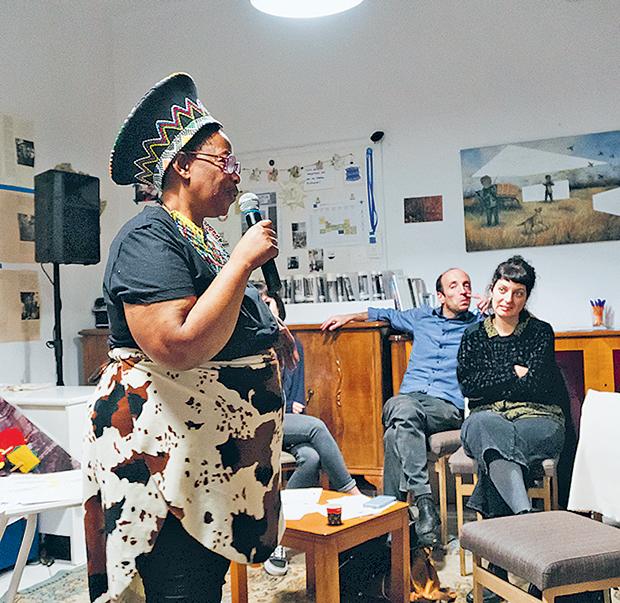 από την εκδήλωση του συνΑθηνά στο Victoria Square Porject, στο πλαίσιο ανάπτυξης του Curing the Limbo στις γειτονιές της Αθήνας , 15 Δεκεμβρίου 2018