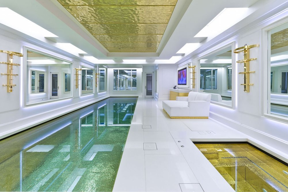 And the property's most notable feature: the luxurious swimming pool in the basement.