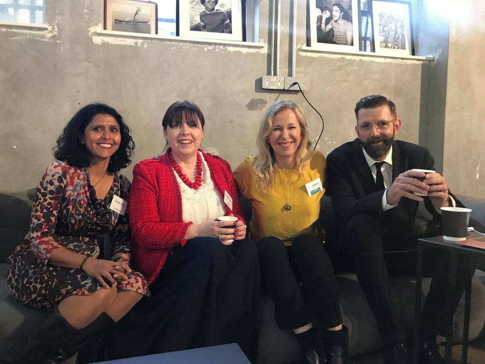 Hosting Trecilla Lobo (Receipt Bank), Juliette Murray (KPMG) and Simon Devonshire OBE at a Thrive Capsule Conference (2018)