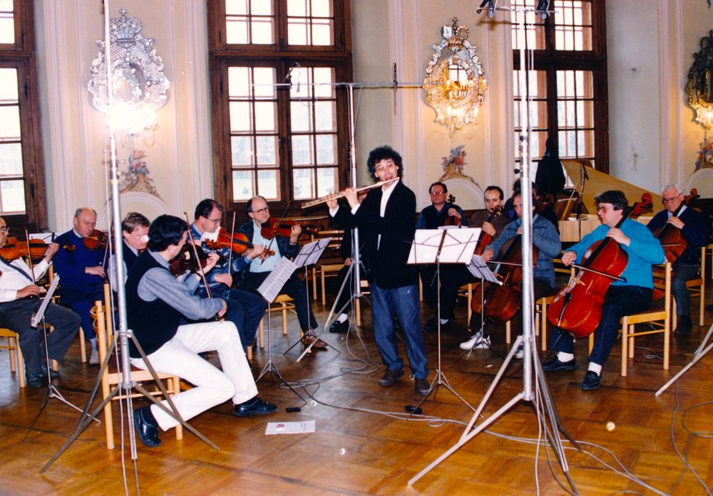 Recording with the Prague Chamber Orchestra (1991)