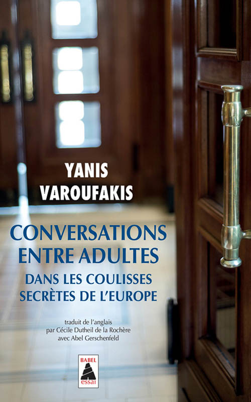 Yaroufakis, Conversations entre adultes Book Cover Photograph by Wolf Kettler