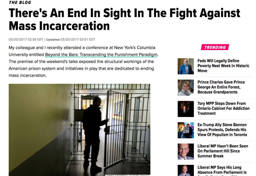 Huffington Post: Mass Incarceration