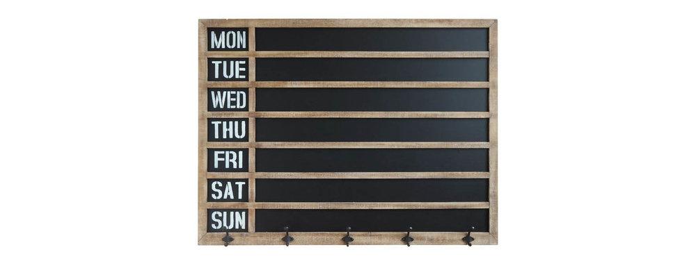 Wooden Chalkboard with Hooks.jpg