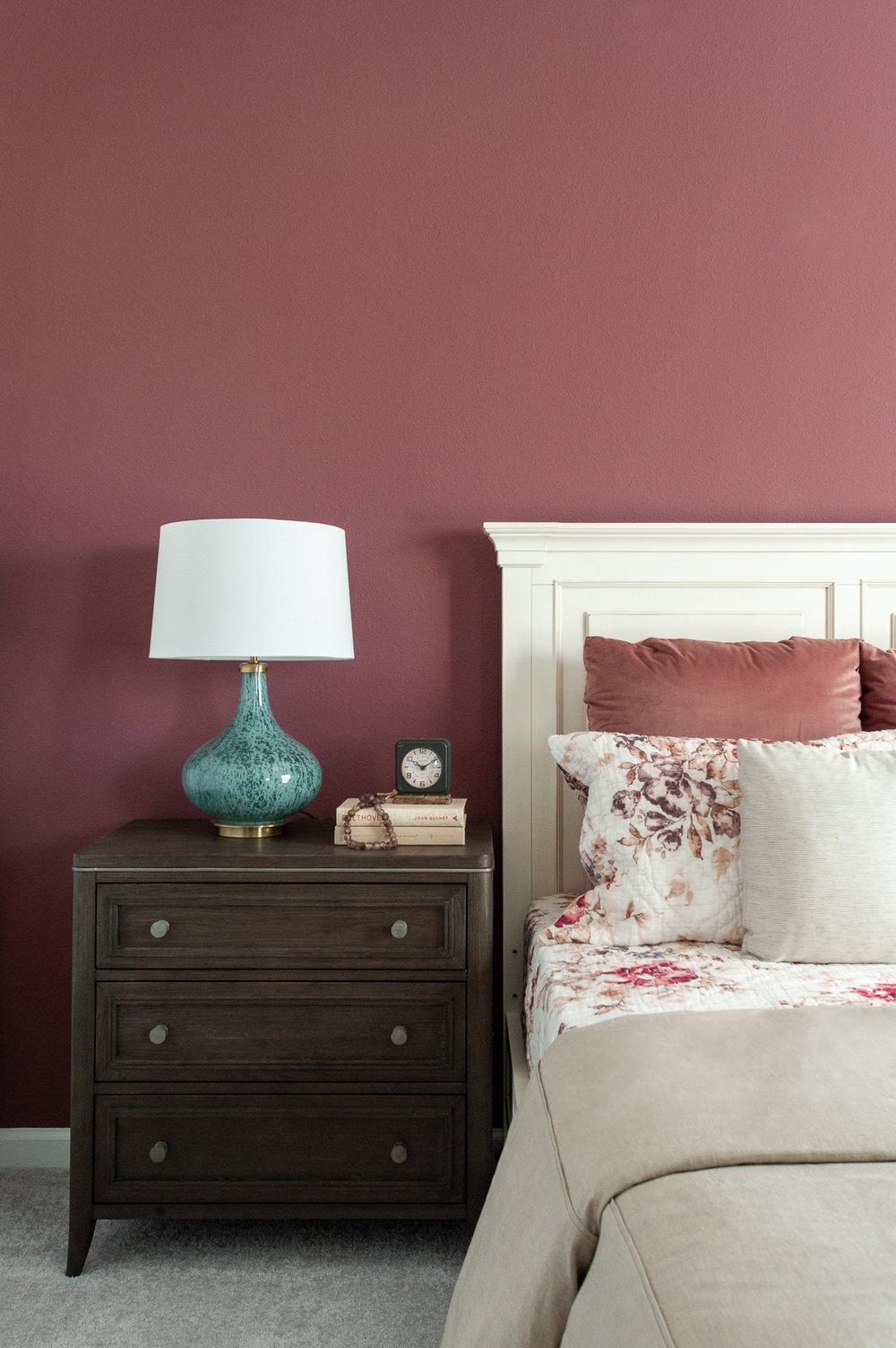 Micamy_Interior Designer_Design_Interior_Model_Merchandising_Guest Bedroom_Accent Wall_Uttemrost_UniversalFurniture_Schumacher_AmityBedding_Lennar_Blog_Blue.jpg