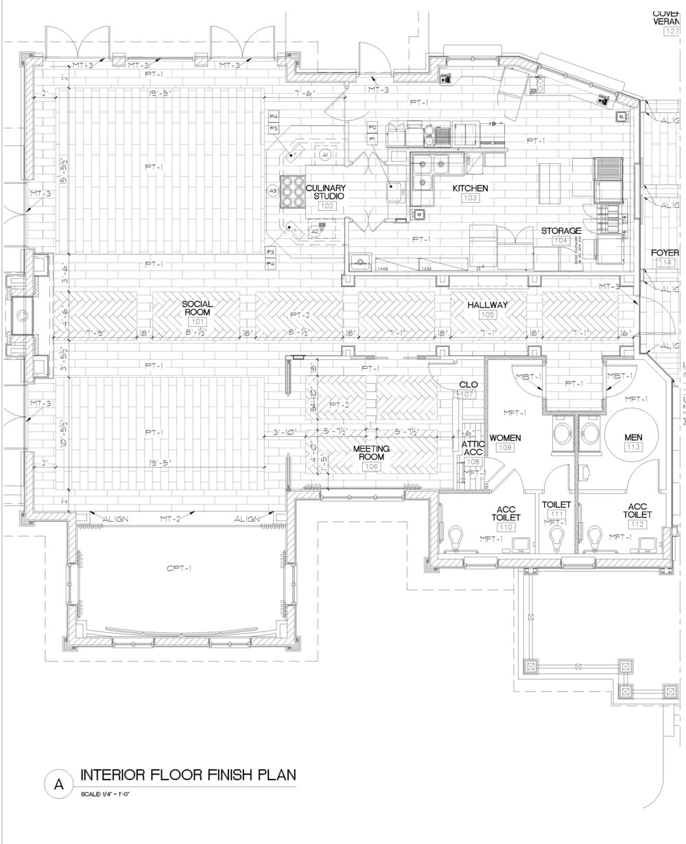 Micamy Design Studio_Interior Design_Beacon Lake_Amenity Center_Clubhouse_New England Style_Nautical_Hallway_Barrel Ceiling_Pendants_Herringbone Tile_Sconces_Ship