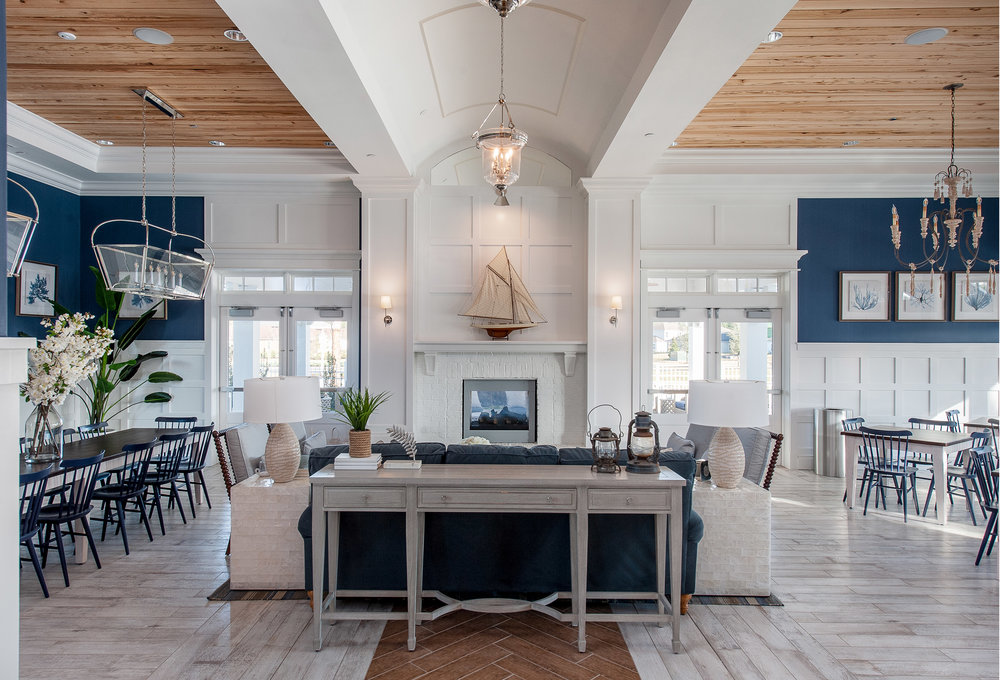 Micamy Design Studio_Interior Design_Beacon Lake_Amenity Center_Clubhouse_New England Style_Nautical_s_Blog_Bernhardt_Rowe_Circa_SpindleChair_Serena and Lily_Pecky Cypress_Gathering Tables_Arteriors_2