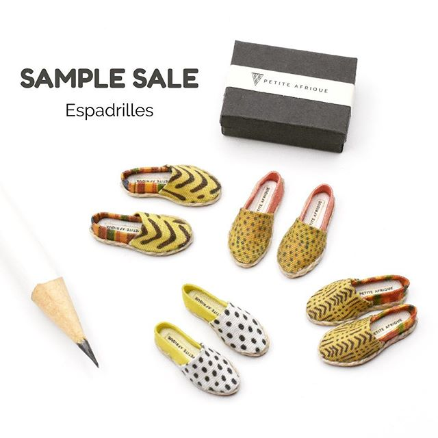SAMPLE SALE: 1/12 Scale Miniature Espadrilles. I will no longer be making these exact styles. These one of a kind creations are currently for sale at deeply discounted prices in my Etsy shop. Link in bio. #espadrilles #miniatureshoes * * * * * * #dollhouseminiatures #miniatures #petiteafrique #afrocentric #onetwelthscale #12thscale #modernmini #modernminiature #moderndollshouse #oneinchscale #modernminiatures #handmade #handcrafted #artisanminiatures #miniatureshoes #casualshoes #ankara #dutchwax #africanwax #kente #africanfabric #mudcloth #chartreuse #cheetahprint #polkadots #pink #dollshouse #dollhouse