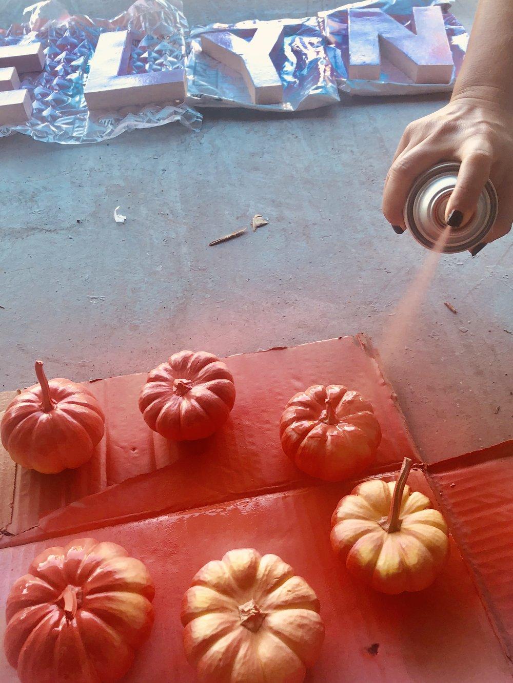 spray painting mini pumpkin.jpg