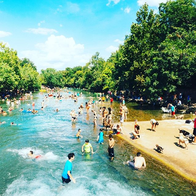 Dreaming of our happy place this morning. 🏊🏻♀️ What's yours?  #bartonsprings #austin #atx #swimming #water