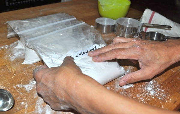 The flour mixture ready to store.