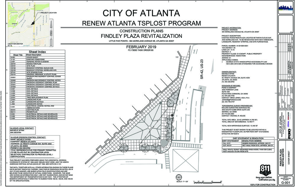 To see the full plan,    view all 23 pages her   e. Approved by UDC and City of Atlanta March 14, 2019