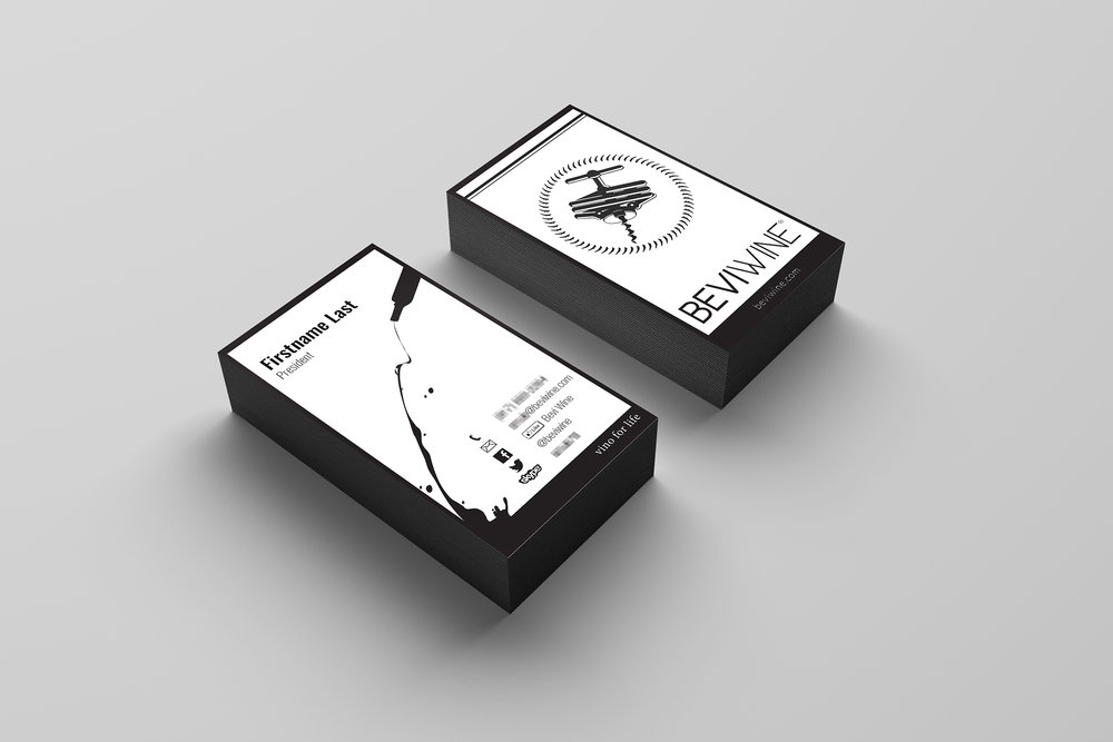 Business card design that was printed and used for all team members.