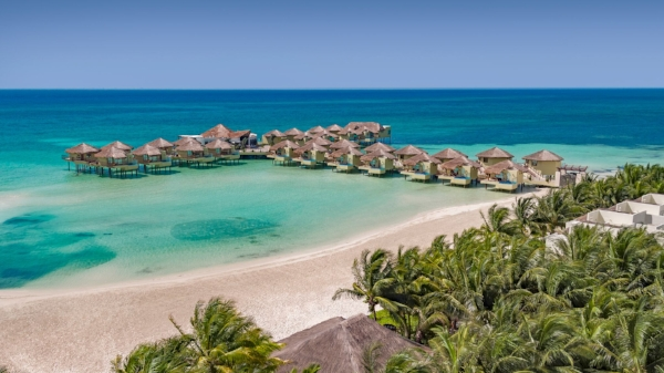 Mexico's first over the water bungalows.