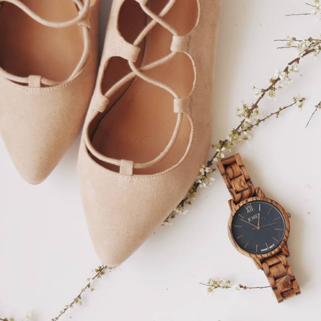 JORD Wood Watch Spring Fashion with Shoes.jpg
